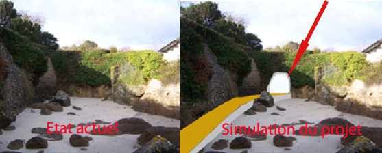 Photo 3 – Vue du passage en tranchée sous l'accès à la gloriette de la Propriété Lascar