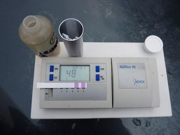 L'ASPF contrôle 48 mg /l de nitrates au Saint Laurent le 17 12 2009