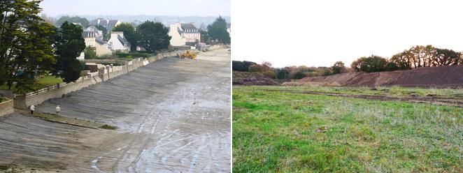 Travaux de terrassements à Cap Coz et Kerambris...en novembre 2011