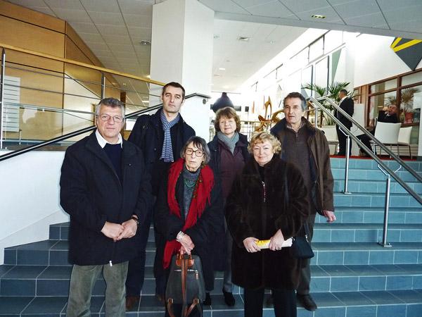 La photo de famille des 3 associations en ce samedi