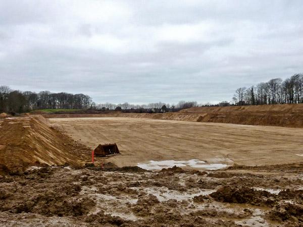 Les travaux au stade le 7 janvier 2013