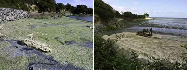 beurck, beurck à Kerleven qui se maquille de sable fin juin 2012 pour accueillir les touristes !