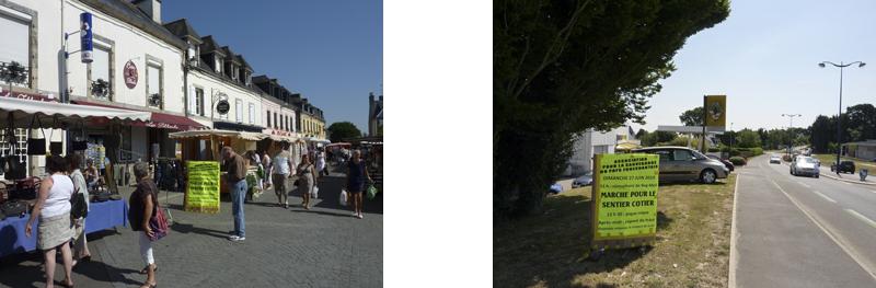 Photos 09 et 10 : l'ASPF plante alors ses affiches en ville et chez des privés en entrée de ville