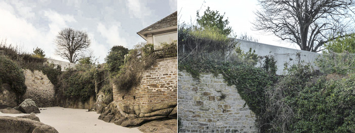 Photo  04 et 05 :   construirait-on encore des blockhaus à Fouesnant en 2014 ?