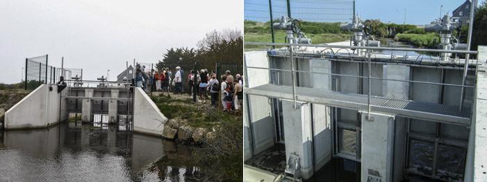 Photos 11 : des vannes intelligentes … pilotées de la Mairie.