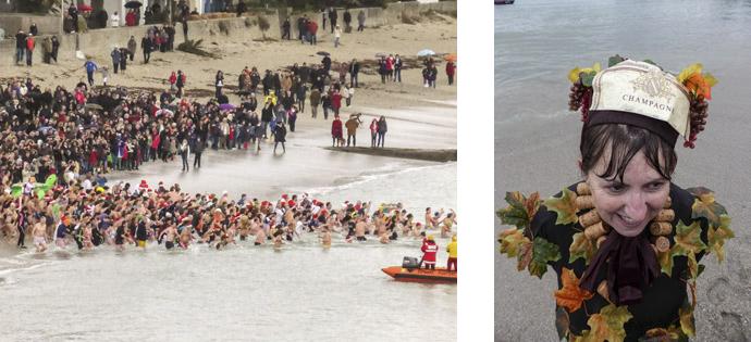 Photos 14 :  Chapeau  et … champagne pour les courageux !