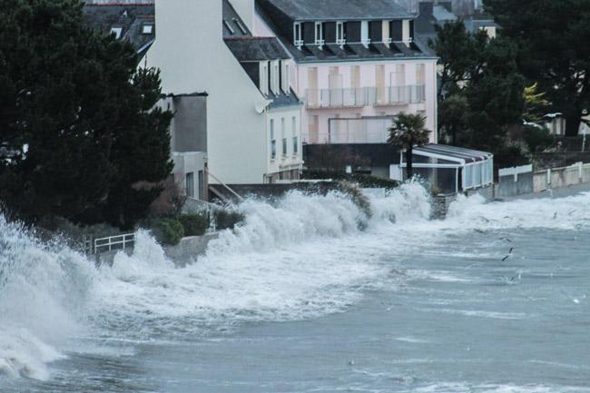 Photo 16 : Début 2014, la tempête et quelques dégâts à Cap Coz.