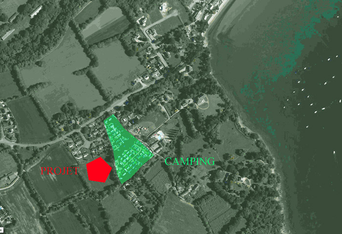 Localisation du projet d'urbanisation
