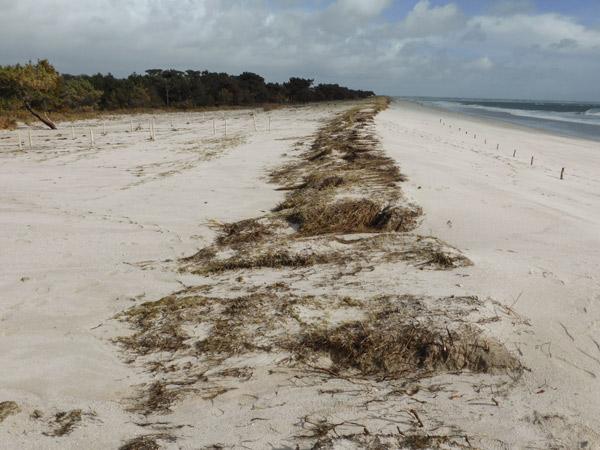 La plage de Cleut-Rouz s'étend
