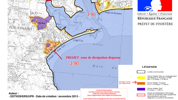 Disparition de la zone de submersion